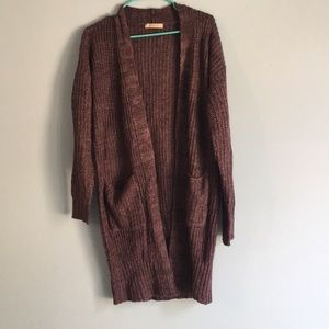 NWT long open knitted sweater